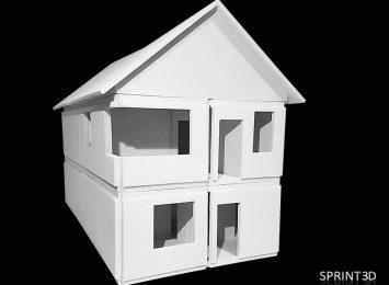 Габаритный макет дома из составных частей (материал ПММА)