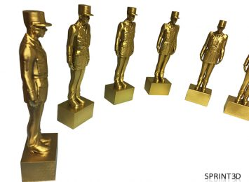 Покраска наград «Шарль де Голль»