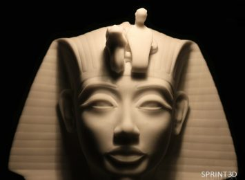 Габаритная копия саркофага Тутанхамона из ПММА