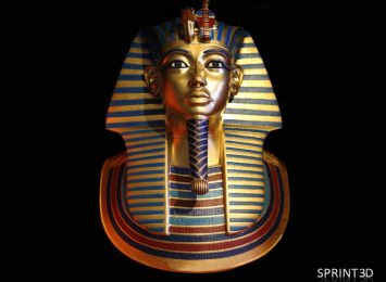 Покрашенная копия саркофага Тутанхамона из ПММА