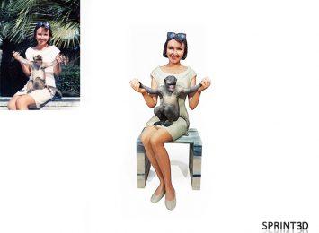 Девушка с обезьянкой
