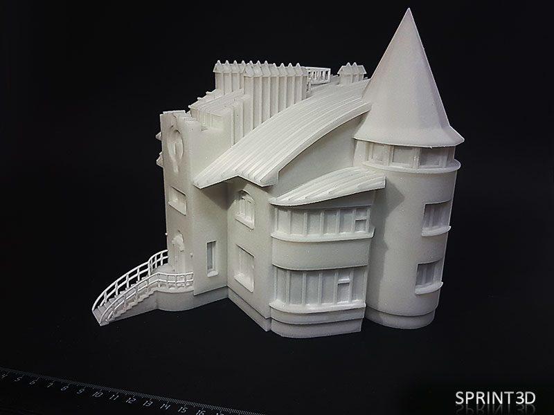 Макет дома из ПММА