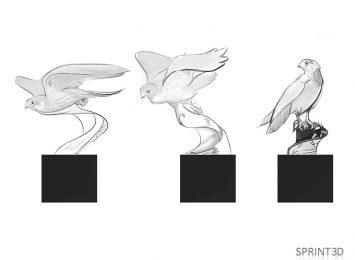 Эскизы будущей 3D-модели Сокола