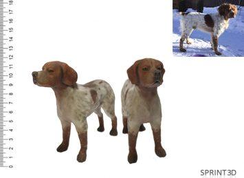 Фигурка собаки из гипса
