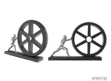 Человек и колесо 3D модель