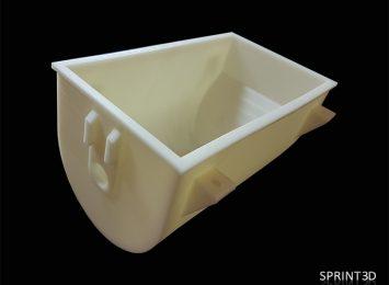 Габаритный опытный образец детали из АБС+ПК (поликарбонат) пластика