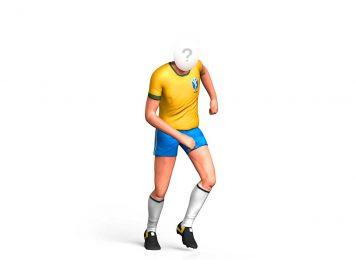 Футболист в желтой форме