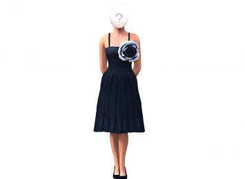 Черный цветок на платье