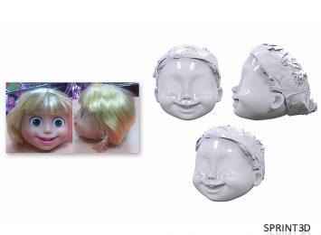 Скан головы куклы