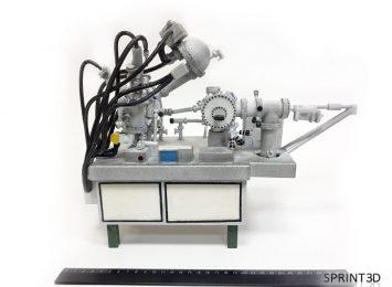 Макет лаборатории из ПММА с ручной покраской