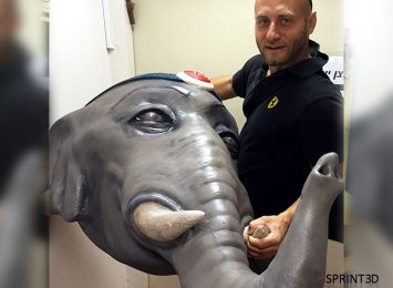 Габаритная голова слона