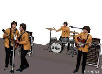 The Beatles 3D model 1