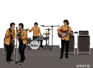 The Beatles 3D model 2