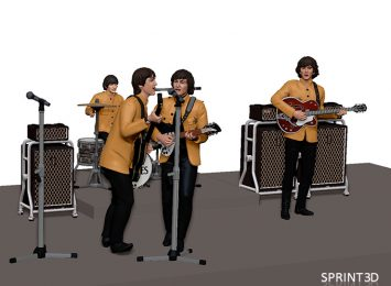 The Beatles 3D model 3