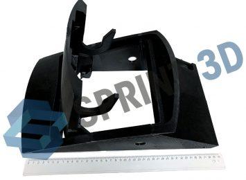 Прототип корпуса из черного ABS пластика из составных частей