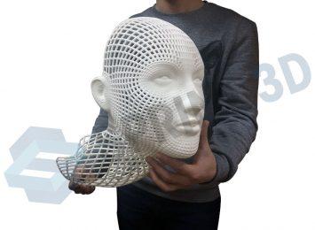 Художественная голова из полиамида