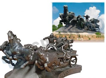 Копия памятника «Тачанка-Ростовчанка»
