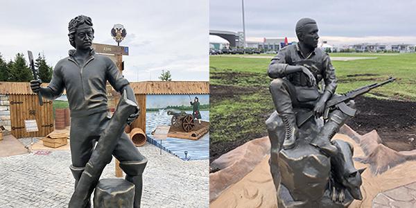 """Скульптуры на заказ в парк """"Патриот"""""""