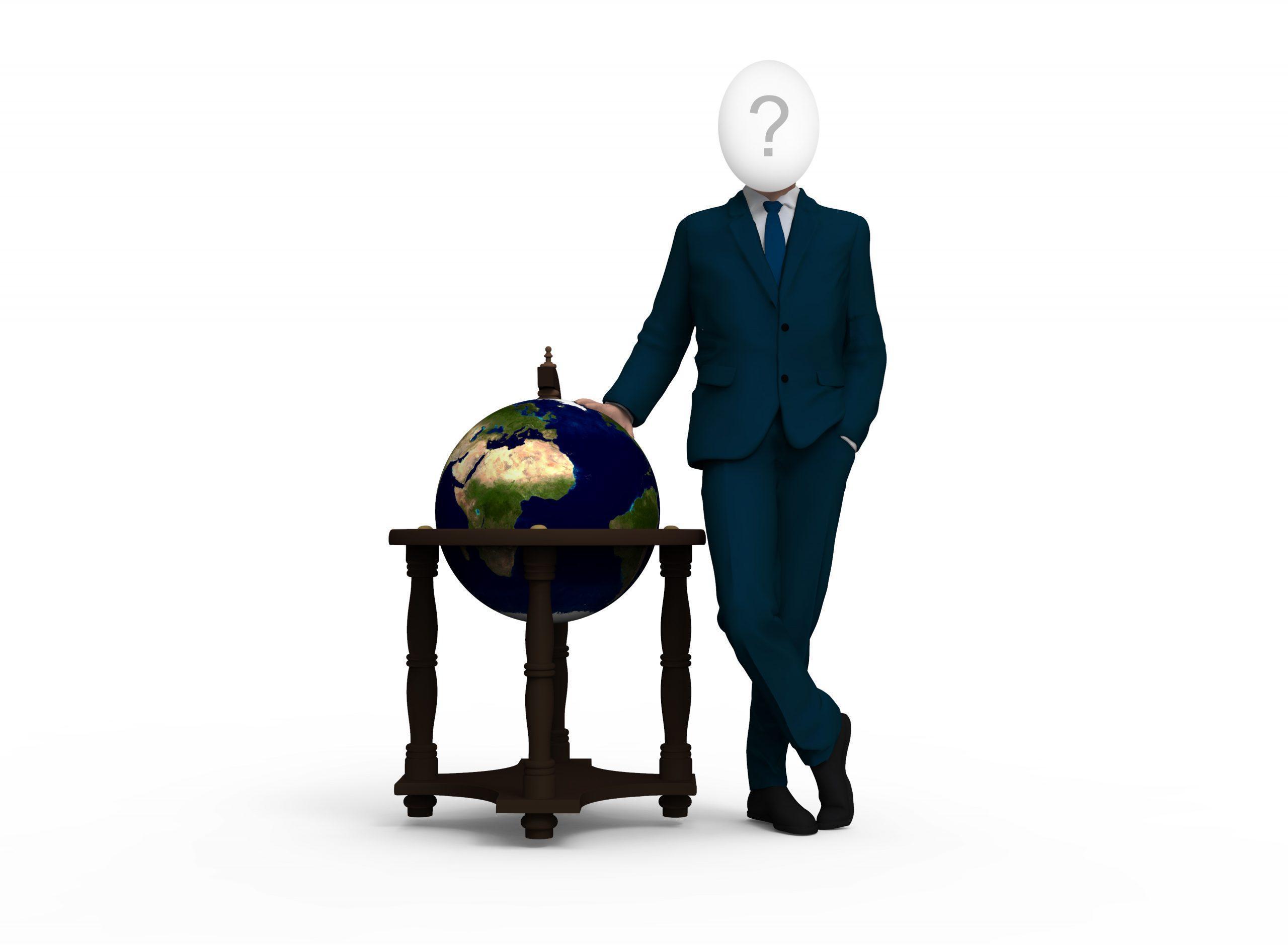 Мужчина с глобусом